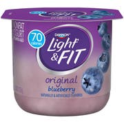 Light and Fit Blueberry Yogurt, 5.3 Ounce -- 12 per case.
