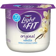 Light and Fit Vanilla Yogurt, 5.3 Ounce -- 12 per case.