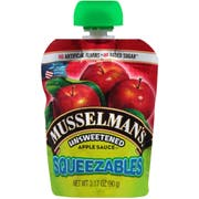 Musselmans Squeezables Unsweetened Apple Sauce, 3.17 Ounce -- 48 per case.
