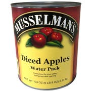 Musselmans Diced Apples - Water Pack, 104 Ounce Can -- 3 per case