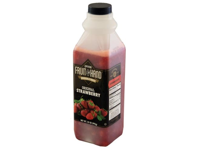 Fruit In Hand Strawberry Pourable Fruit Puree, 35 Ounce -- 6 per case.