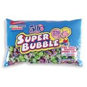Super Bubble 3 Flavor Bubble Gum, 48 Ounce -- 12 per case.