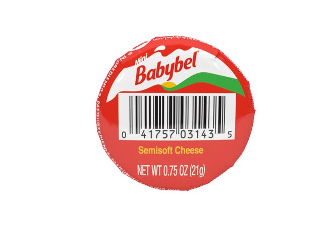 Mini Babybel Original Cheese, 0.75 Ounce -- 30 per case.
