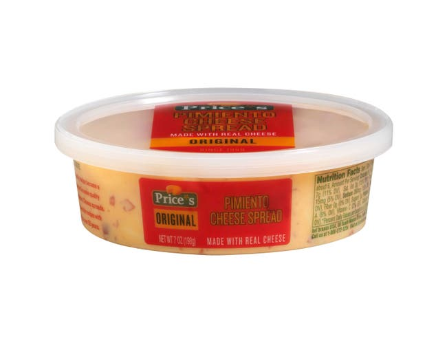 Prices Pimento Cheese Spread, 7 Ounce Cup -- 12 per case.