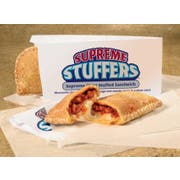 J and J Snack Supreme Stuffers Pizza with Serving Sleeve, 5 ounce -- 48 per case