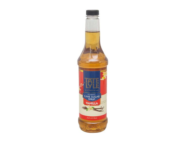 Tate and Lyle Vanilla Flavored Syrup, 25.4 Ounce -- 4 per case.