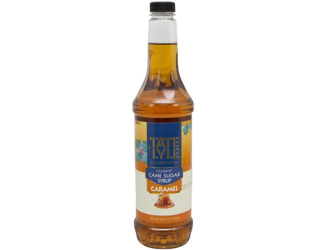 Tate & Lyle Caramel Flavored Syrup, 25.4 Ounce -- 4 per case.