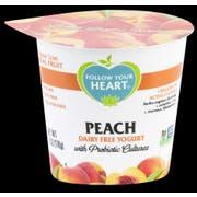 Follow Your Heart Dairy Free Peach Yogurt, 5.3 Ounce -- 12 per case