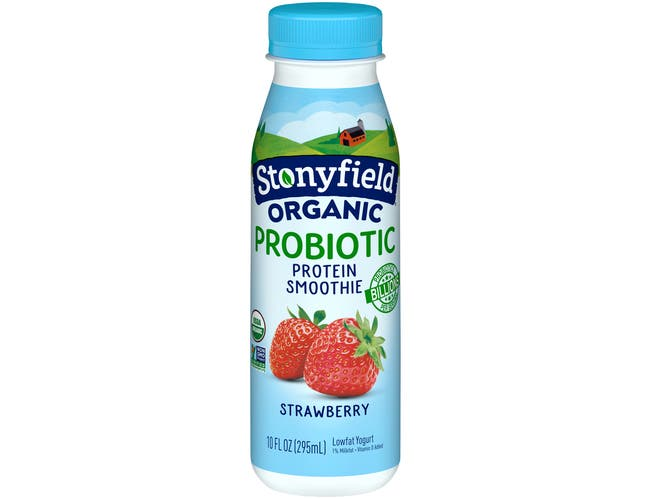 Stonyfield Farm Organic Strawberry Yogurt Smoothie, 10 Ounce -- 12 per case.