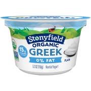 Stonyfield Farm Oikos Organic Plain Greek Yogurt, 5.3 Ounce -- 12 per case.