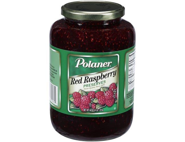 Polaner Red Raspberry Preserve, 4 Pound -- 6 per case.