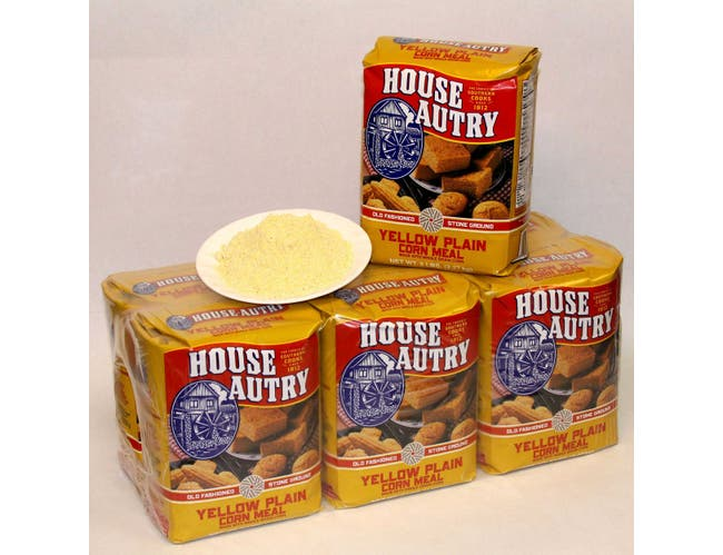 House Autry Yellow Plain Cornmeal, 5 Pound -- 6 per case.
