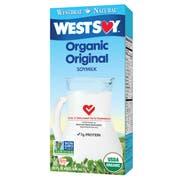 Hain Celestial Westsoy Organic Original Soy Milk, 32 Ounce -- 12 per case.