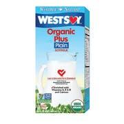 Hain Celestial Westsoy Organic Plus Plain Soy Milk, 32 Ounce -- 12 per case.