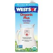 Hain Celestial Westsoy Organic Plus Vanilla Soy Milk, 32 Ounce -- 12 per case.