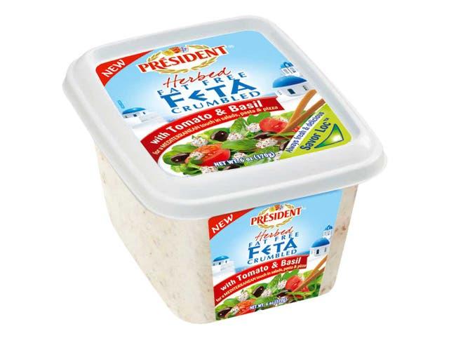 President Feta Cheese Crumble, 6 Ounce -- 8 per case.
