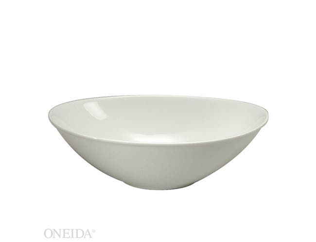 Sant Andrea Fusion Fine Porcelain Undecorated Oval Bowl, 8 Ounce -- 36 per case.