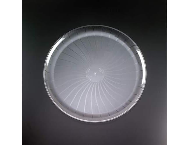 Yoshi Ware Emi Clear Round Party Tray, 18 inch -- 25 per case.