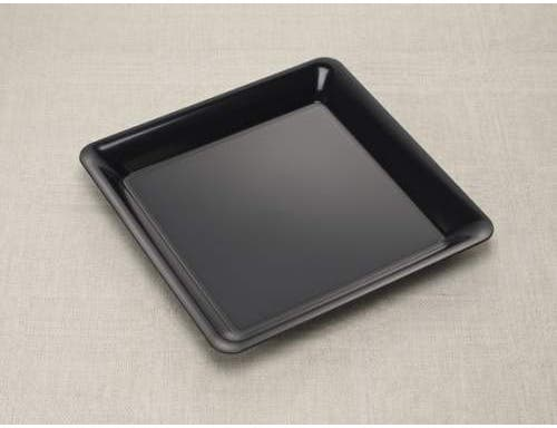 Party Tray Square Black Tray, 14 x 14 inch -- 25 per case.