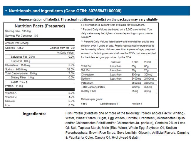 Stone Gate Foods Alaskan Snow Crab Leg, 4.4 Ounce Cup -- 8 per case.