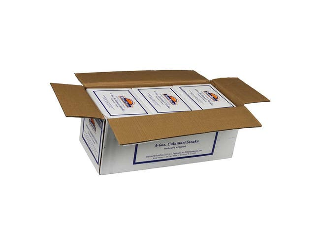 PanaPesca Formulated Raw Tenderized Squid Steak, 5 pound -- 6 per case