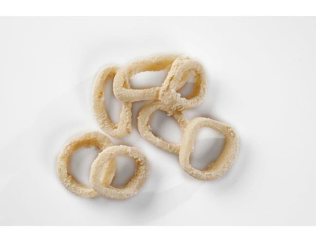Pana Pesca Lightly Breaded Raw Squid/Calamari Ring, 4 Ounce -- 40 per case.