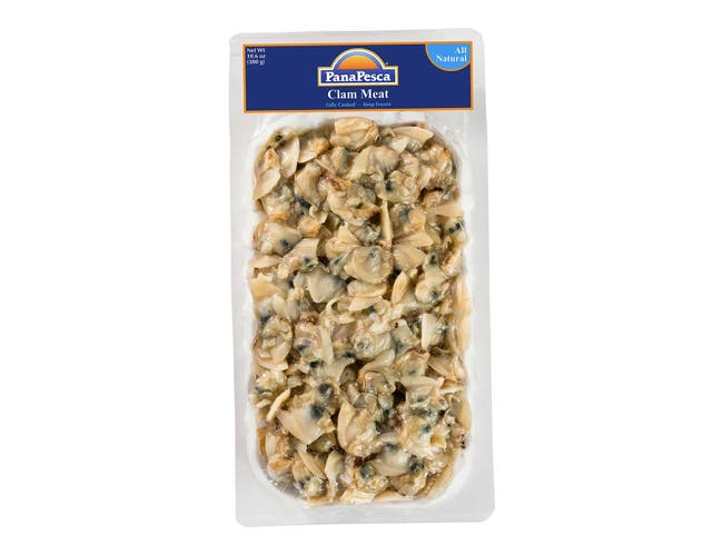 Pana Pesca Clam Meat Fully Cooked Skinpack, 10.6 Ounce -- 12 per case.