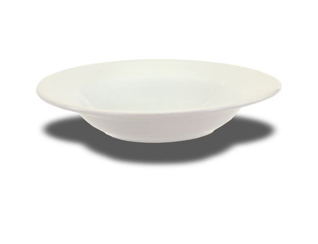 Crestware Bright White Rim Soup, 12 Ounce -- 24 per case.