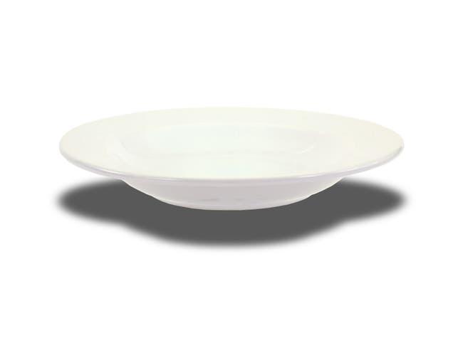 Crestware Bright White Rimmed Soup Bowl, 15 Ounce -- 24 per case.