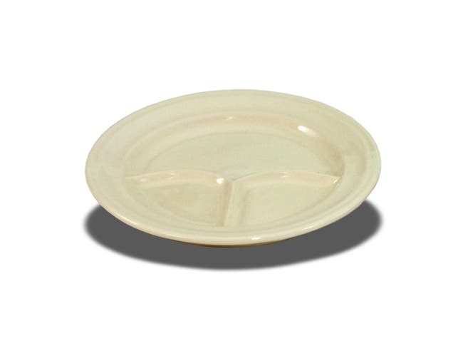 Crestware American White 3 Compartment Childrens Plate -- 12 per case.