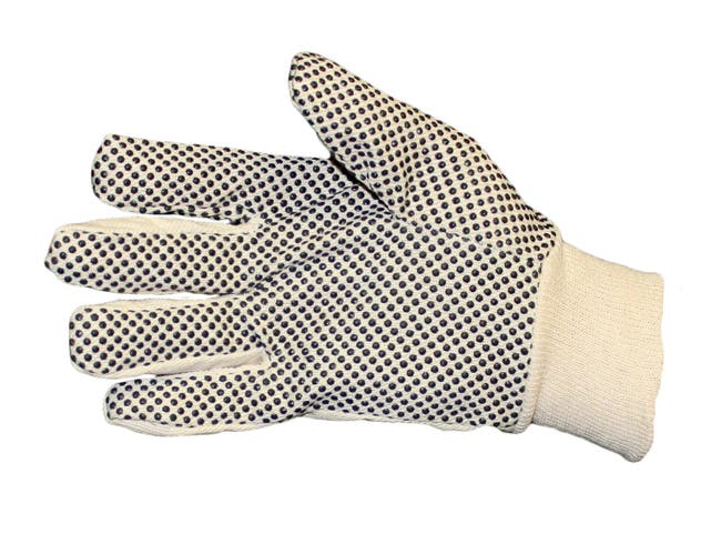 Pro-Guard Cotton Dotted Large Gloves -- 25 per case