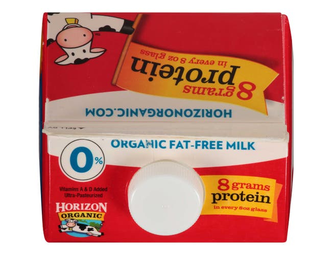 Horizon Organic Fat Free Milk, 64 Ounce -- 6 per case.