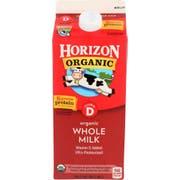 Horizon Organic Whole Milk, 0.5 gallon -- 6 per case