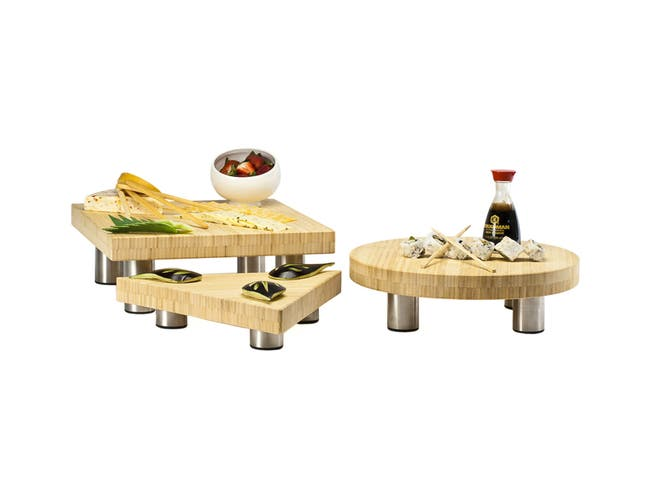 Oneida Bamboo Light Wood 3 Piece Butcher Block Set -- 1 each.