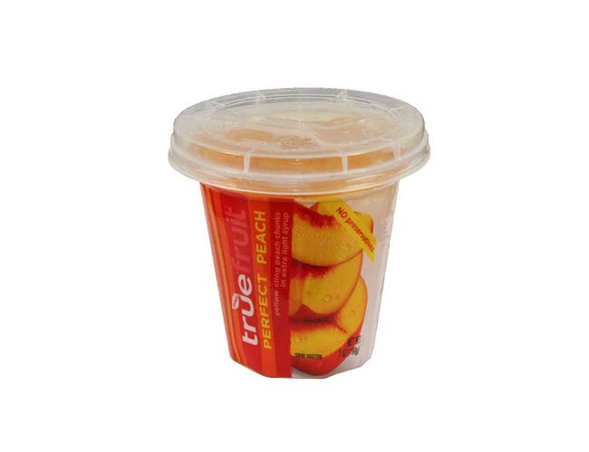 Sundia True Fruit Perfect Peach with Lid, 7 Ounce -- 12 per case.