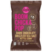 Angies Boom Chicka Pop Dark Chocolaty Drizzled Sea Salt Kettle Corn, 5.5 Ounce -- 12 per case