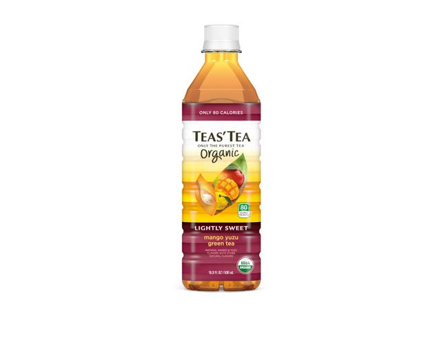 Teas Tea Organic Mango Yuzu Green Tea, 16.9 Fluid Ounce -- 12 per case