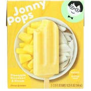 Jonnypops Pineapple Coconut Creamy Smoothie On a Stick, 3 count per pack -- 6 per case