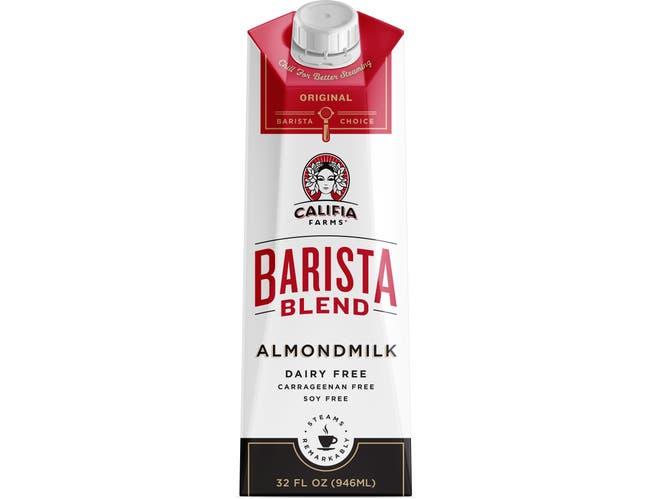 Califia Farms Barista Blend Almond Milk, 32 Fluid Ounce -- 6 per case