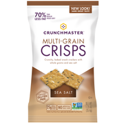 Crunchmaster Single Serve Sea Salt Multi Grain Crisps Cracker, 1.25 Ounce -- 24 per case.
