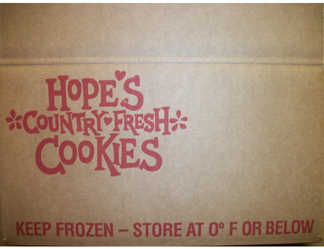 Hopes Homestyle Double Chocolate Chunk Cookie Dough, 1.0 Ounce -- 320 per case.