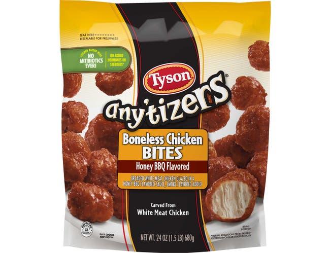 Tyson Anytizers Honey BBQ Boneless Chicken Bite, 1.5 Pound -- 8 per case.
