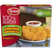 Tyson Nugget Shaped Breaded Chicken Patties, 13.25 Ounce -- 8 per case.