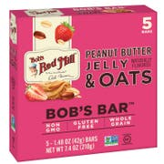 Bobs Red Mill Peanut Butter Jelly and Oats Bobs Bar, 1.48 Ounce - 5 count per pack -- 6 packs per case