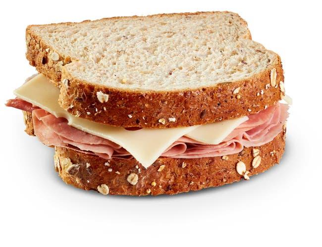 Hillshire Farm Ham and Swiss Sandwich, 0.5 Pound -- 10 per case