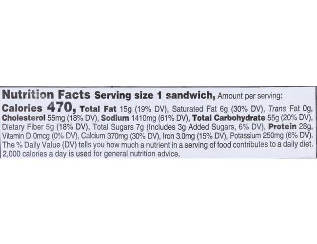 Hillshire Farm Turkey and Provolone Sandwich, 0.5 Pound -- 10 per case