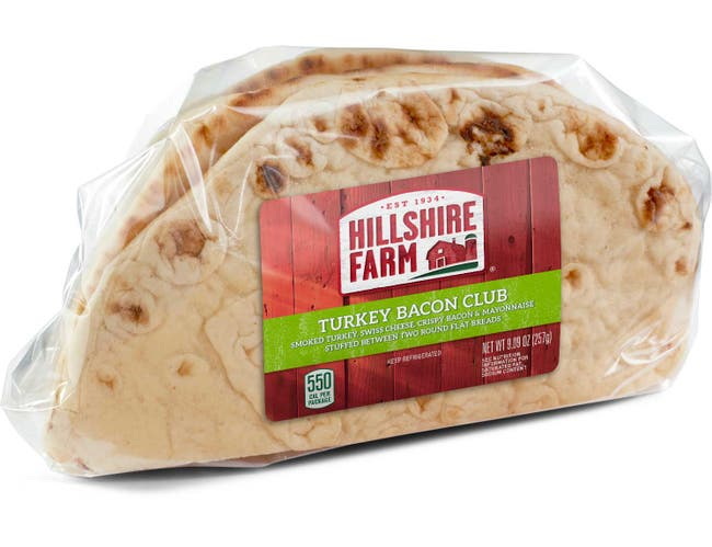 Hillshire Farm Turkey Bacon Club Flatbread Sandwich, 8.6 Ounce -- 10 per case