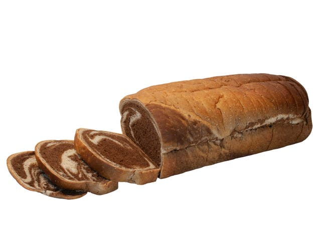 Ralcorp Sliced Rye Swirl Bread, 3/4 inch -- 8 per case.