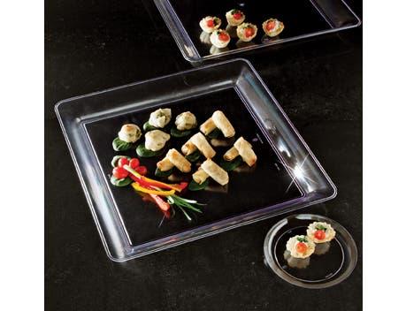 Party Tray Square White Tray, 16 x 16 inch -- 20 per case.