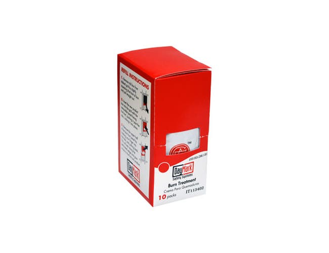 Daymark First Aid Kit Single Use Burn Cream -- 10 per case.
